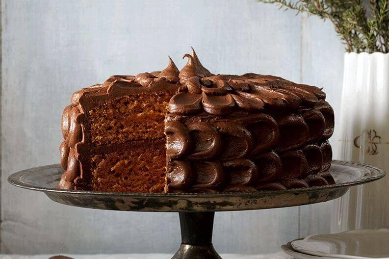 spiced layered cake