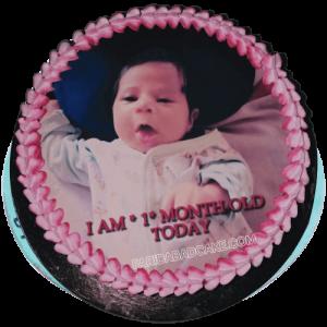 1st Month Birthday Cake