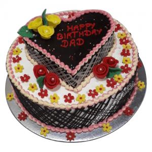 Lovely Heart Shape Cake