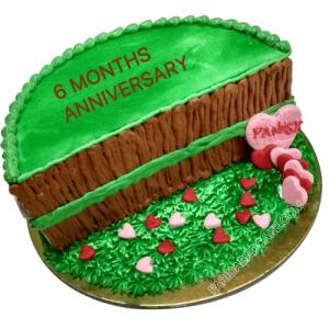 Six Months Anniversary Cake