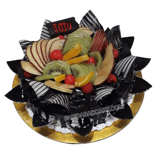 Fresh Fruit Birthday Cake With Black Forest Flavors