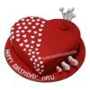 heart shaped birthday cake for husband-faridabadcake