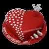 heart shaped birthday cake for husband-faridabadcake