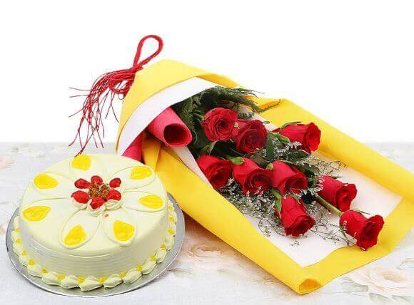 cake and flower for girl