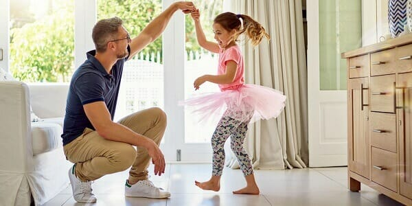 daughter joyous moments