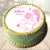 mothers day cake with photo faridabadcake