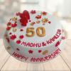 50th marriage anniversary cake faridabad