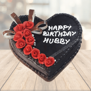 Heart Shaped Cake for Hubby