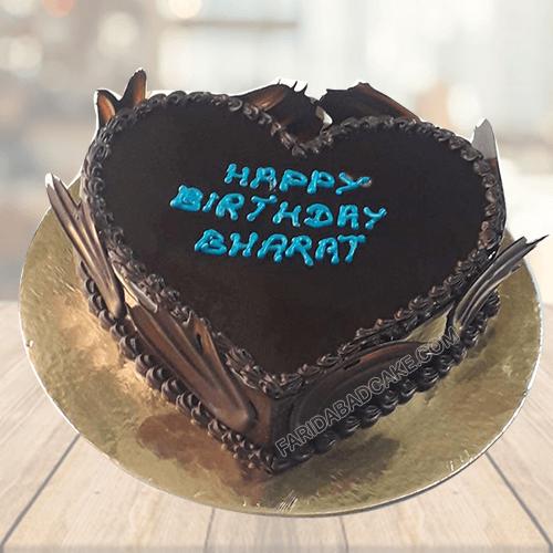 Chocolate Truffle Heart Cake