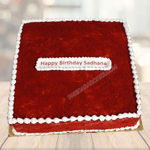 Red Velvet Square Cake