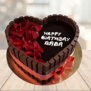 kitkat Heart Cake
